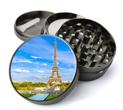 Eiffel Tower Paris France Scene Extra Large 5 Piece Spice  Herb Grinder with / Catcher - Expression Tees