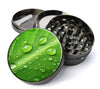 Leaf With Drops Of Water Extra Large 5 Piece Spice  Herb Grinder with / Catcher - Expression Tees