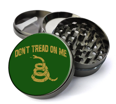 Don't Tread On Me Large 5 Piece Spice & Herb Grinder With Microfine Mesh Screen