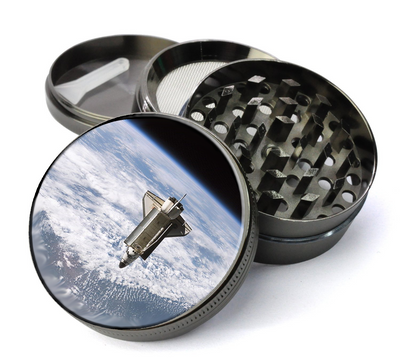 Space Shuttle Extra Large 4 Chamber Spice & Herb Grinder With Microfine Screen