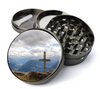 Wooden Cross Deluxe Metal 5 Piece Herb Grinder With Fine Screen