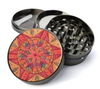 Star Mandala Colorful Deluxe Metal 5 Piece Herb Grinder With Fine Screen