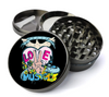 Hippie Love & Peace Extra Large 4 Chamber Spice & Herb Grinder With Microfine Screen