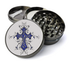 Fleur-de-lis Cross Deluxe Metal 5 Piece Herb Grinder With Fine Screen