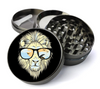 Lion Sunglasses Metal 5 Piece Herb Grinder With Fine Screen-Create Your Own Grinder!
