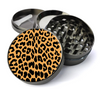 Cheetah Print Metal 5 Piece Herb Grinder With Fine Screen - Create Your Own Grinder!