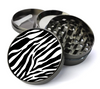 Zebra Print Metal 5 Piece Herb Grinder With Fine Screen - Create Your Own Grinder!