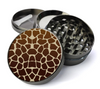 Giraffe Print Metal 5 Piece Herb Grinder With Fine Screen - Create Your Own Grinder!