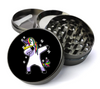 Dabbing Unicorn l Metal 5 Piece Herb Grinder With Fine Screen - Create Your Own Grinder!