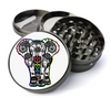 Mandala Elephant Metal 5 Piece Herb Grinder With Fine Screen - Create Your Own Grinder!