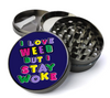 Stay Woke Metal 5 Piece Herb Grinder With Fine Screen - Create Your Own Grinder!
