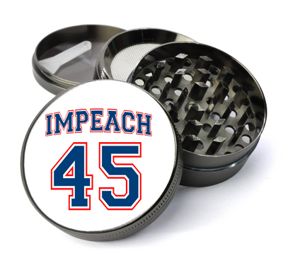 Impeach 45 Deluxe Metal 5 Piece Herb Grinder With Fine Screen - Create Your Own Grinder!