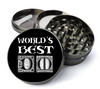 World's Best Dungeon Master Deluxe Metal 5 Piece Herb Grinder With Fine Screen - Create Your Own Grinder!