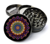 Colorful Mandala Deluxe Metal 5 Piece Herb Grinder With Fine Screen