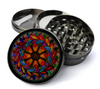Stained Glass Mandala Design Deluxe Metal 5 Piece Herb Grinder With Fine Screen
