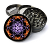 Fire and Lightning Mandala Deluxe Metal 5 Piece Herb Grinder With Fine Screen