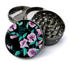 Pink Flowers Deluxe Metal 5 Piece Herb Grinder With Fine Screen - Cheap Grinders You Can Customize