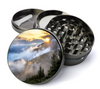 Mountain Sunrise Grinder Deluxe Metal 5 Piece Herb Grinder With Fine Screen