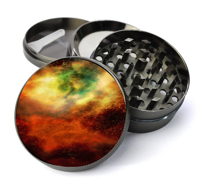 Nebula Space Grinder Deluxe Metal 5 Piece Herb Grinder With Fine Screen