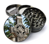 Stone Celtic Cross Deluxe Metal 5 Piece Herb Grinder With Fine Screen