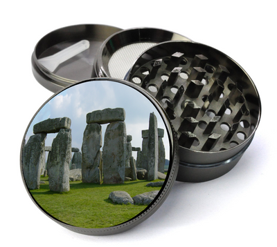 Stonehenge Grinder Large 5 Piece Spice & Herb Grinder With Microfine Mesh Screen