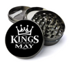 Kings Are Born in May Grinder Deluxe Metal 5 Piece Herb Grinder With Fine Screen