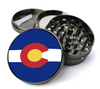 Colorado State Flag Deluxe Metal 5 Piece Herb Grinder With Fine Screen