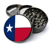 Texas State Flag Deluxe Metal 5 Piece Herb Grinder With Fine Screen