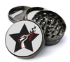 Black Star Resistance Deluxe Metal 4 Piece Herb Grinder With Fine Screen