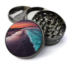 Beach at Sundown Deluxe Metal 4 Piece Herb Grinder With Fine Screen