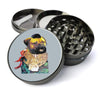 Mr. T With Chains Funny Pug Jumbo 5 Piece Spice  Herb Grinder with / Catcher - Expression Tees