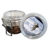 Airtight Stash Jar with Silicone Seal - Space Shuttle - Food-Grade Plastic with Locking Wire Top - Smell Proof Hermes Container