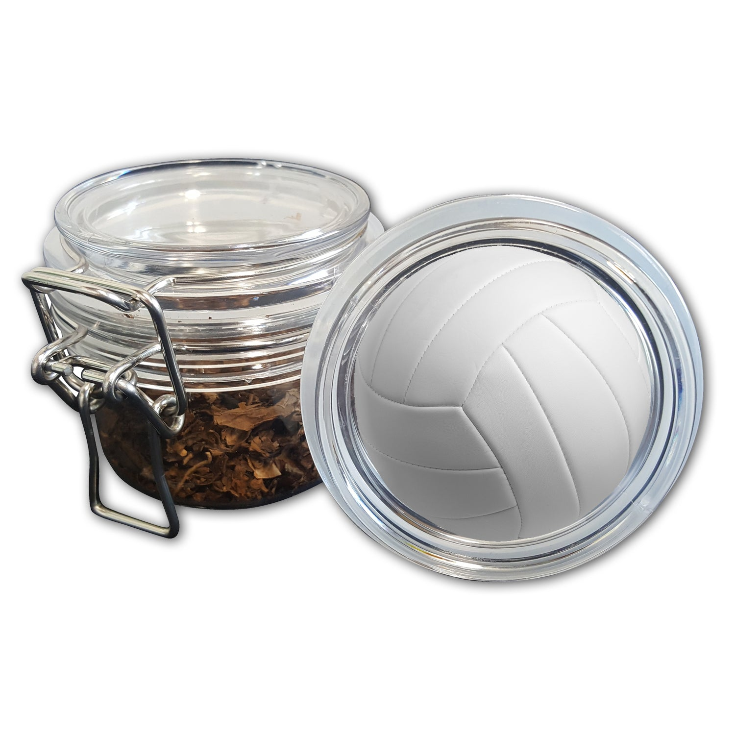 Airtight Stash Jar With Silicone Seal Volleyball Food Grade