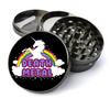Death Metal Unicorn Deluxe Metal 5 Piece Herb Grinder With Fine Screen - Create Your Own Grinder!