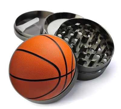 Basketball Large 5 Piece Spice & Herb Grinder With Microfine Mesh Screen