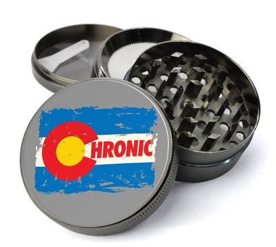 Chronic Colorado #Extra Large 5 Piece Spice  Herb Grinder with / Catcher - Custom Marijuana Grinders with  Screen - Expression Tees