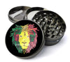 Rasta DJ Lion Head Extra Large 5 Piece Spice  Herb Grinder with / Catcher - Expression Tees