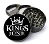 Kings Are Born in June Grinder Deluxe Metal 5 Piece Herb Grinder With Fine Screen