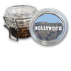 Airtight Stash Jar with Silicone Seal - Hollywood Sign Vandalized - Food-Grade Plastic with Locking Wire Top - Smell Proof Hermes Container