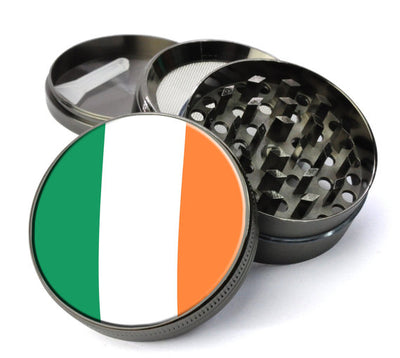 Irish Flag Large 5 Piece Spice & Herb Grinder With Microfine Screen