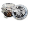 Airtight Stash Jar with Silicone Seal - Hepburn & Monroe Tattoo - Food-Grade Plastic with Locking Wire Top - Smell Proof Hermes Container