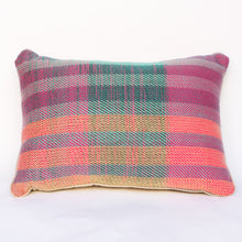 Pink and Green Stripped Pillow