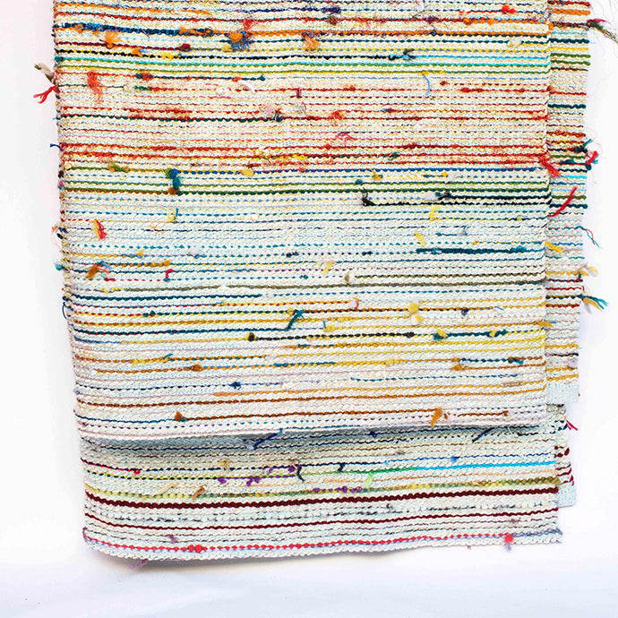 Rainbow Stripe Scrap Yarn Blanket