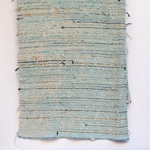 Cast Blue Chenille Scrap Yarn Blanket
