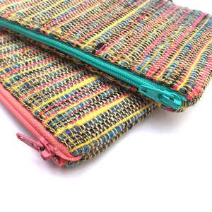 Rainbow Handwoven Zip Pouches