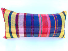 "Rainbow Plaid 23"" x 11"" Long Pillow"