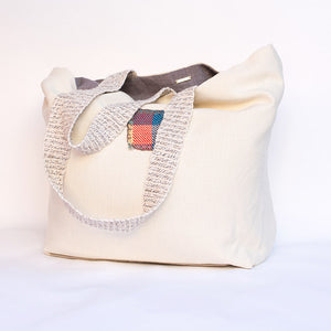 Tote Bag with handwoven patch