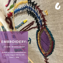 Embroidery: Zoom Workshop
