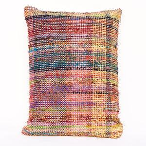 Muted Rainbow Plaid Pillow