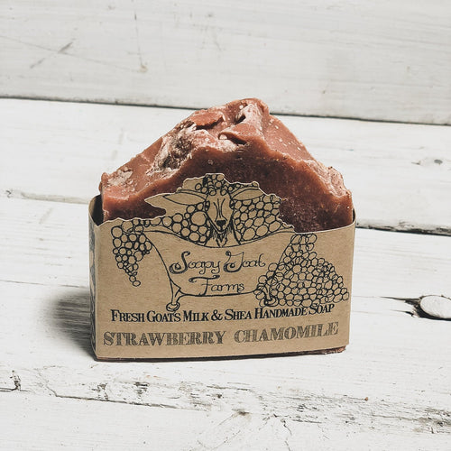 Artisan Goat's Milk Soap- Strawberry Chamomile